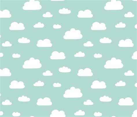 wallpaper grey and mint clouds mint background fabric kimsa spoonflower