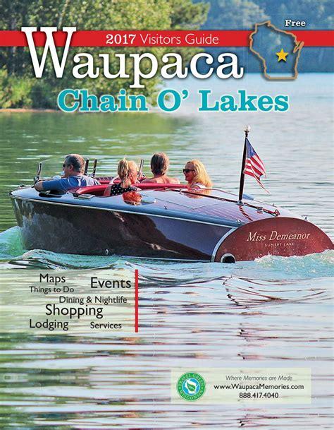 pontoon boat rental waupaca wi waupaca chain o lakes area 2017 visitor guide by waupaca