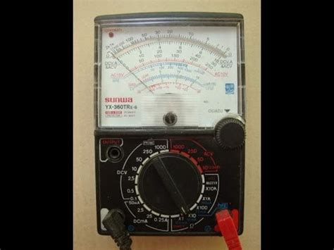 how to calculate resistor using multimeter how to find resistance using analog multimeter samwa yx 360tr