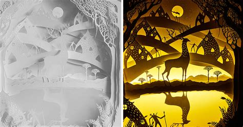 Fairytales Come To Life In New Papercut Light Boxes By Hari Deepti Bored Panda Papercut Lightbox Template