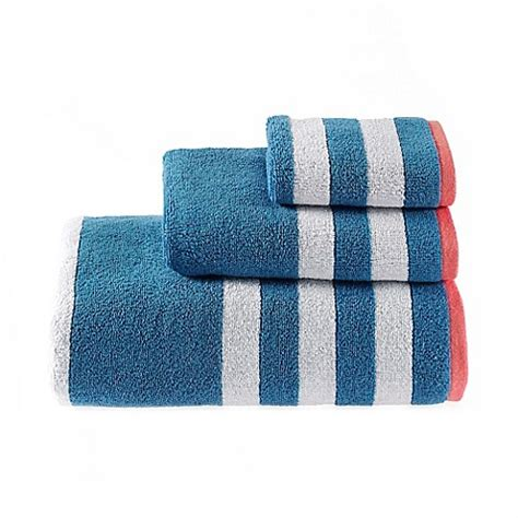 riviera bathrooms buy riviera stripe bath towel in blue from bed bath beyond