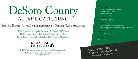 6th annual desoto county alumni social news and events