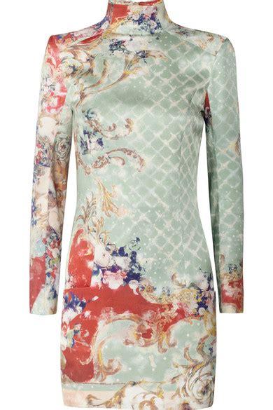 Friday Afternoon Dresses From Net A Porter by Balmain Printed Silk Sateen Dress Net A Porter