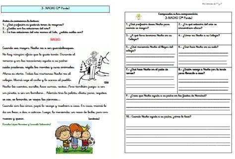 lectura y preguntas de comprension lectora primaria comprensi 243 n lectora educaci 211 n primaria por ciclos