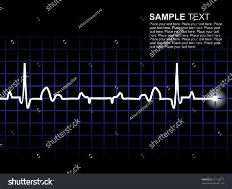 lifeline electrocardiogram wallpaper stock vector