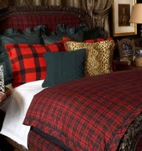 Ralph Lauren Plaid Comforter Red And Black Buffalo Check Upholstered Chair With Black