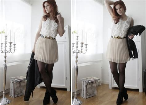 Forever21 Pleated Blouse White T3010 1 therez hahlin forever 21 blouse monki pleated skirt