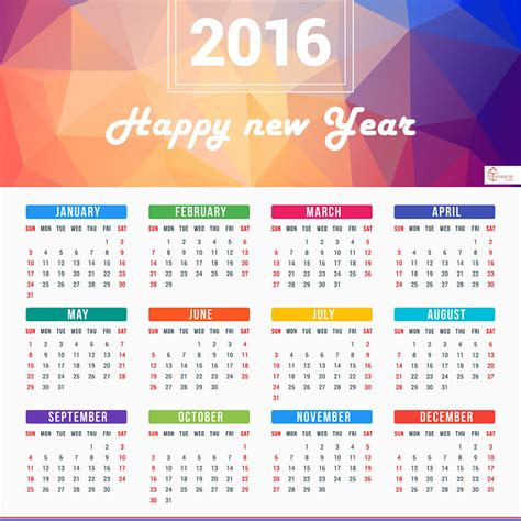 design calendar for 2016 new year calendar 2016 designs holidays