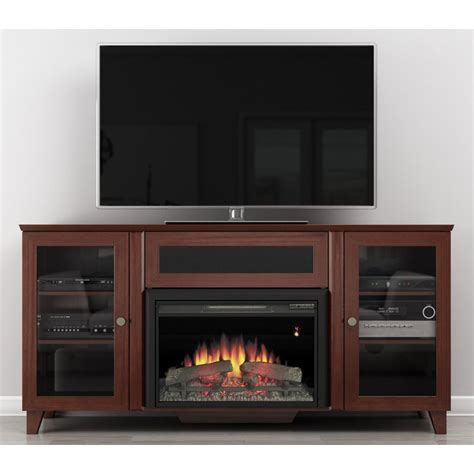 best price for electric fireplace furnitech 60 in shaker style corner tv console with 25 in