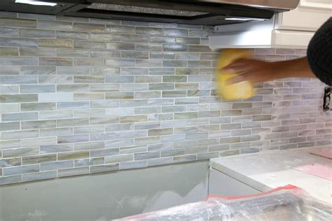 grouting kitchen backsplash installing a paper faced mosaic tile backsplash