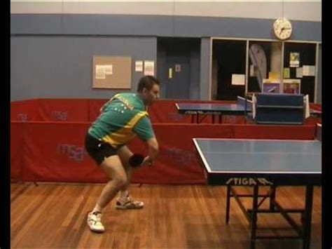 Topspin Table Tennis by Table Tennis Backhand Topspin Against Backspin