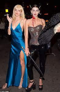 Martha Hunt and Devon Windsor channel Scarface drug diva for Halloween   Daily Mail Online