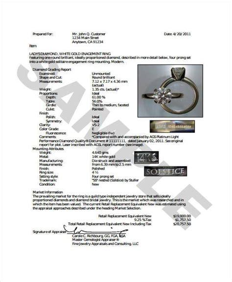 free jewelry appraisal template style guru fashion