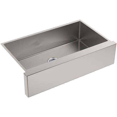 Kohler Farmhouse Kitchen Sink Kohler Strive Undermount Farmhouse Apron Front Stainless Steel 36 In Single Bowl Kitchen Sink