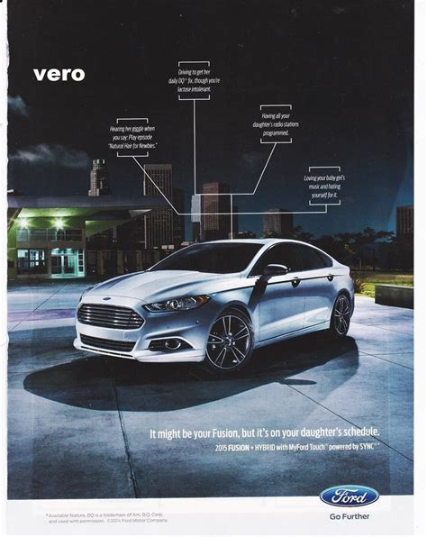 car ads ford fusion 2014 magazine ad print poster page