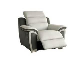fauteuil relax 233 lectrique wow cuir micro gris clair
