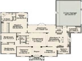 one story open concept house plans