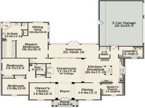 open house floor plans with pictures one story open concept house plans