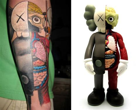 kaws tattoo tattoos inspired by dissected companion by kaws