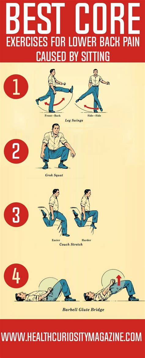 best exercises for lower back caused by sitting back relief lower back