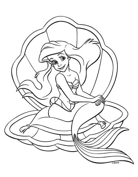 litle mermaid princess coloring pages