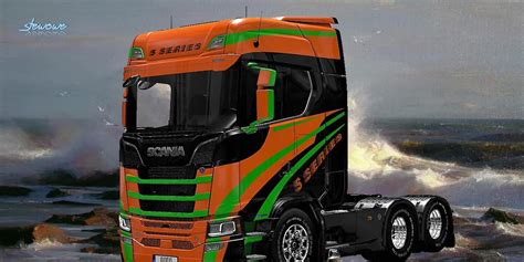 Skin Series scania s series skin mod for ets 2