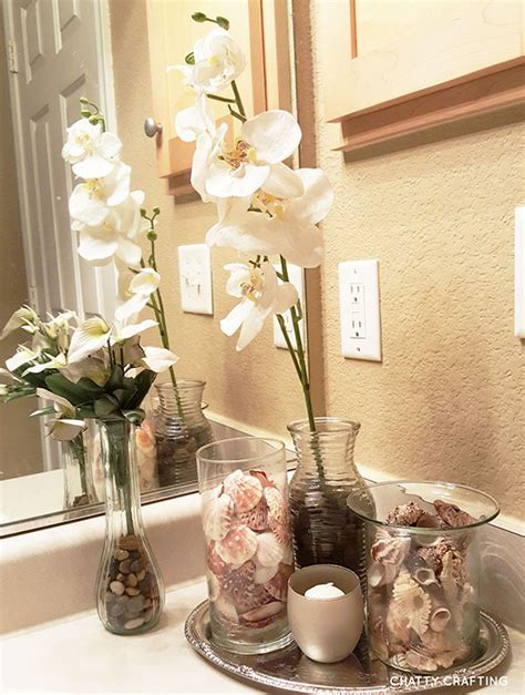 Affordable Dollar Store Coastal Bathroom Idea Chatty Bathroom Decor Stores