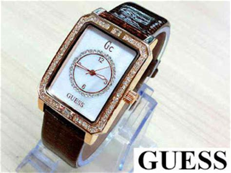 Jam Guess Collection Kulit Coklat jam tangan guess collection gc kulit ca01