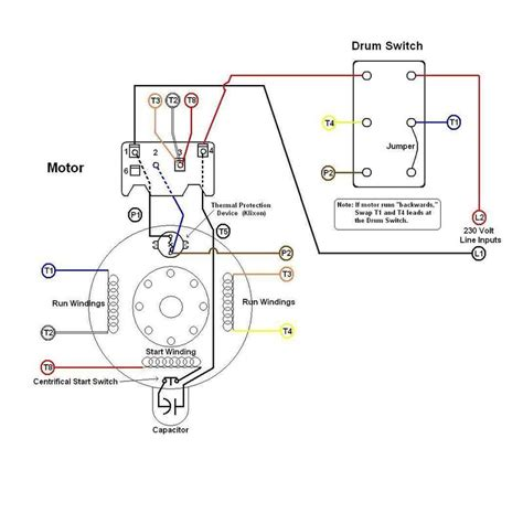 motor reversing drum switch wiring diagram reversing