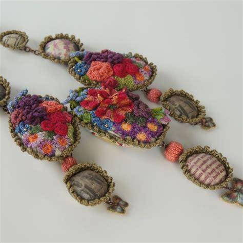Handmade Fabric Jewelry - best 25 textile jewelry ideas on fabric