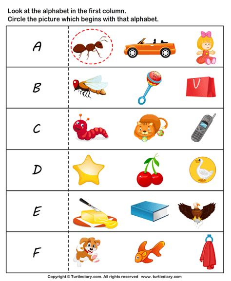 Letter Sound Worksheets For Pre K by Letter Sounds Worksheet 1 Turtle Diary