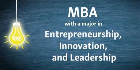 Mba And Entrepreneurship by New Mba Major In Entrepreneurship Innovation And