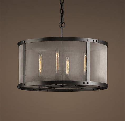 restoration hardware kitchen lighting riveted mesh chandelier small lighting pinterest
