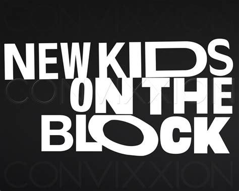 New On The Block Clip new on the block vinyl decal retro logo nkotb