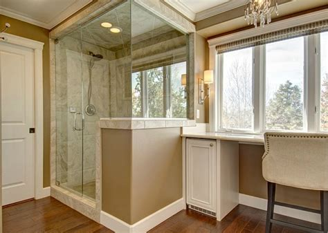 bathroom remodel tub or no tub angie s master bath remodel in colorado hooked on houses