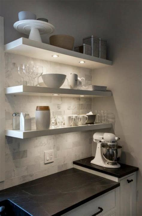 floating shelves with lights floating shelves with puck lights kitchen got to have s