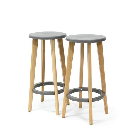 Tabouret De Bar Bois by Tabouret Bois Design Gris Harry S Par Drawer