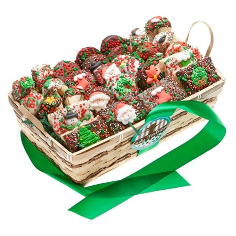 christmas cookie gift basket 30 pc gift baskets plus