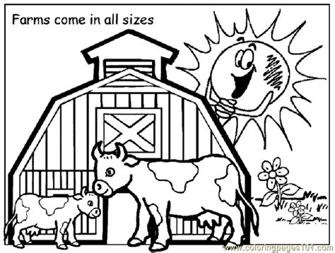 Farm Coloring Pages Free Printable coloring pages farm coloring page 09 peoples gt others