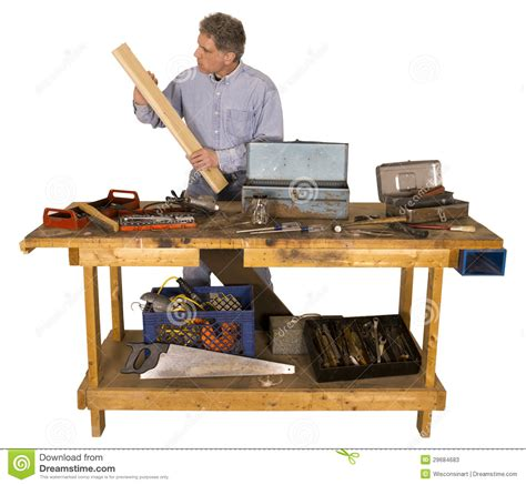 woodworking active man  hobby  handyman stock image