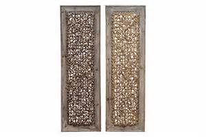 buy wood rattan wall d 233 cor 2 asst 38 inch x 12 inch at