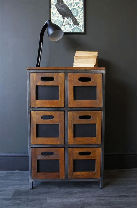 hudson 6 drawer wooden storage chest of drawers