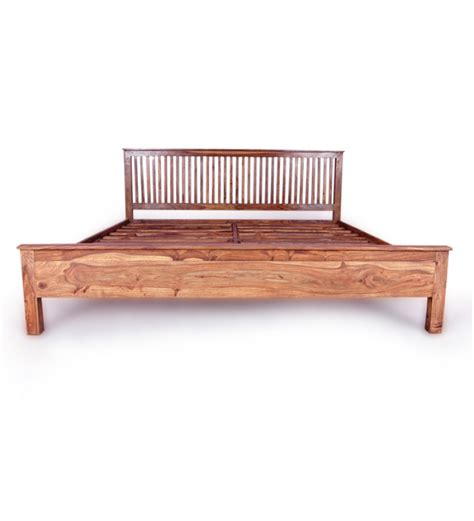 cinnamon slatted headboard king size bed by mudramark