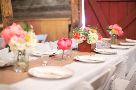 Home Decoration Photo Gallery wedding tablescape coral and yellow rustic grace estate