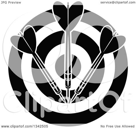 clipart   black  white target  darts royalty  vector illustration  seamartini