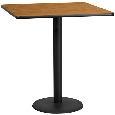 bar table tops and bases 42 square natural laminate table top with 24 round bar
