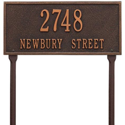 Address Plaques For Front Yard - hartford standard lawn address plaque in lawn address plaques