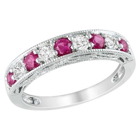 Ruby 4 5ct silver 4 5ct created ruby and created white sapphire ring