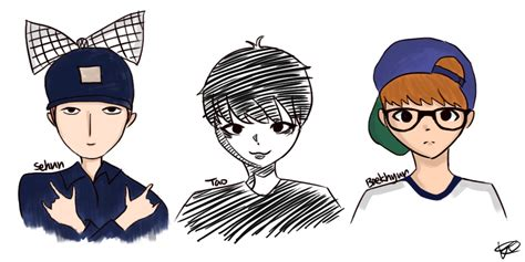 doodle exo exo doodles by hyomun on deviantart