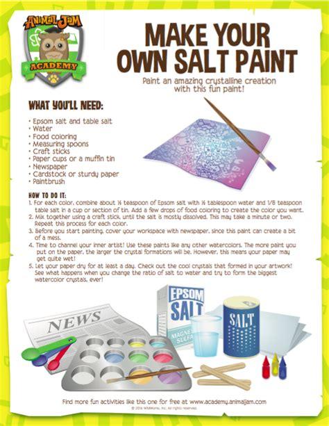 aj academy make your own salt paint the daily explorer
